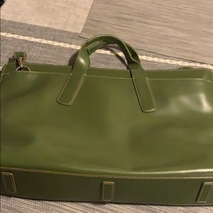 LODIS green Leather Laptop Bag Briefcase